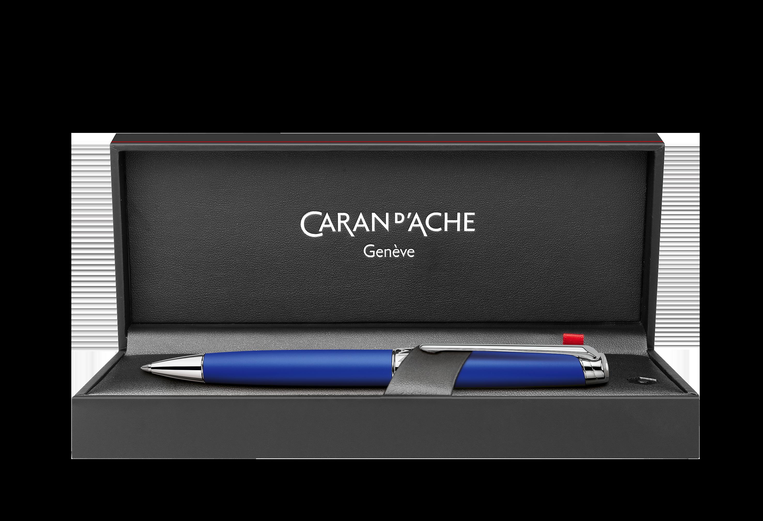 Caran d'Ache Léman Klein Blue Kugelschreiber 01