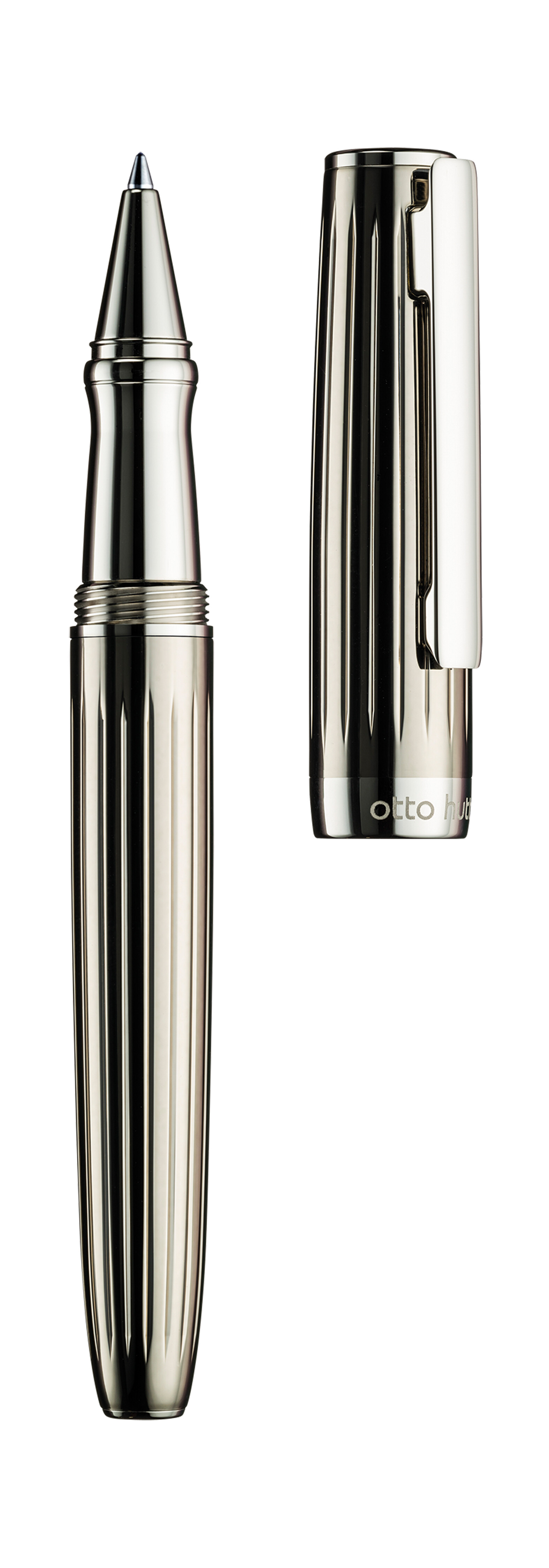D07 Tintenroller, schwarz transparent lackiert streifen, Teile platiniert 01