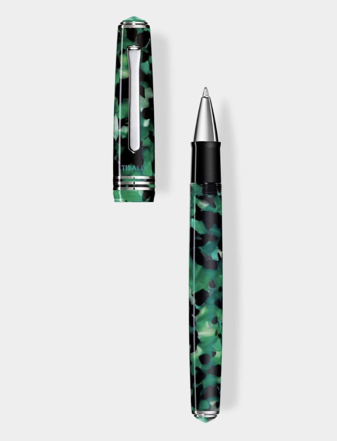 Collezione: N.60 - roller in resina verde smeraldo 02