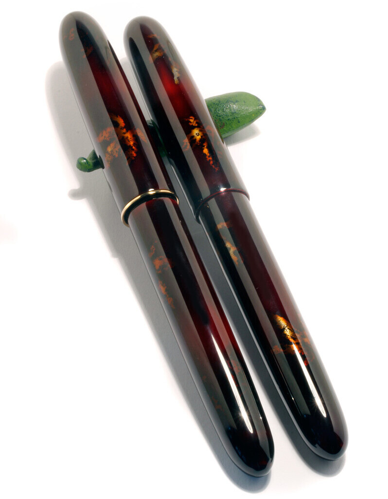 MIYABI SHIBUI Füllfederhalter von MANU PROPRIA, lackiert mit TAME MOMIJI MAKI-E Urushi-Lack. 03