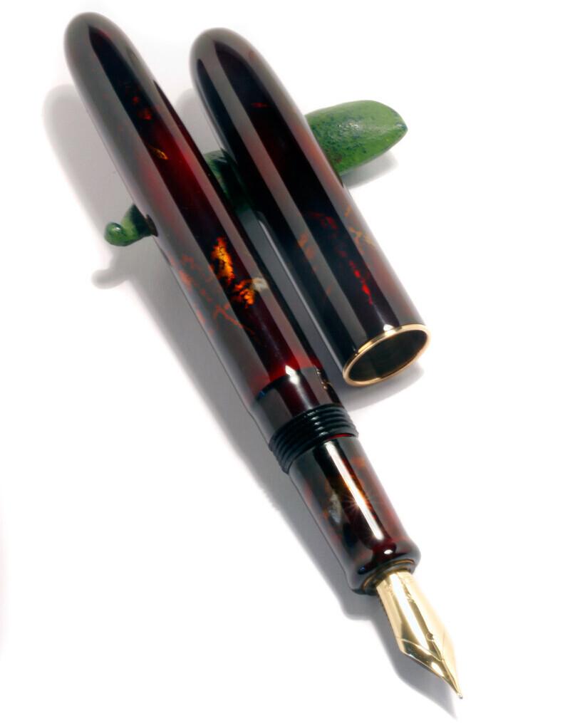 MIYABI SHIBUI Füllfederhalter von MANU PROPRIA, lackiert mit TAME MOMIJI MAKI-E Urushi-Lack. 06