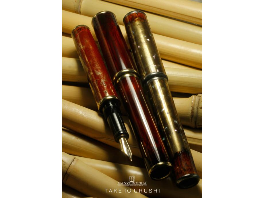 TAKE to URUSHI Füllfederhalter von MANU PROPRIA, lackiert mit OSHIDASHI Urushi-Lack 05